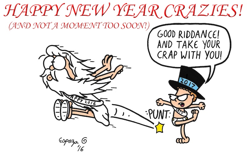 HAPPY NEW YEAR'S MY CRAZIES!!!