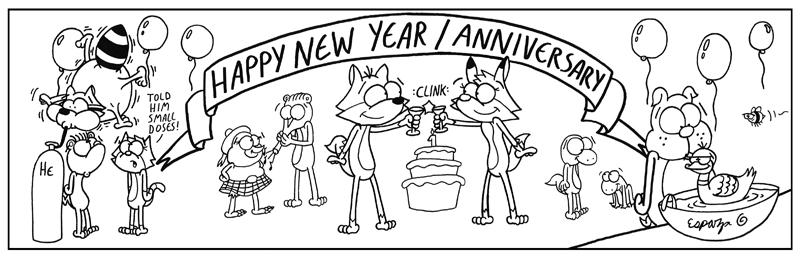 HAPPY NEW YEAR-VERSARY FROM THE BUBBLE FOX CREW (#104)
